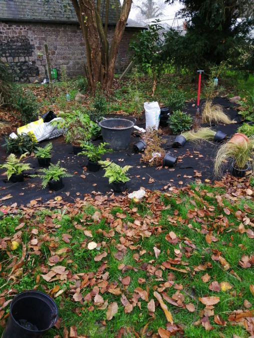chantier réalisation de jardin